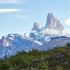 View of Mt. Fitz Roy from Huemul Glacier, Los Glaciares National Park, Santa Cruz, Argentina