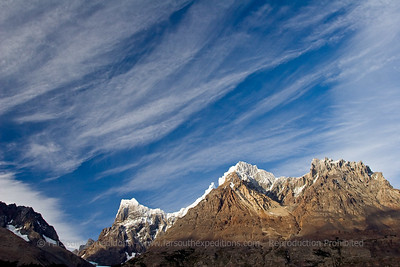 Paine Massif from Lago Grey, Torres del Paine NP, Patagonia, Chile