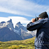 Photographing guanacos, Torres del Paine National Park, Chile