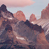 The granite pinnacles of the Paine Massif, Torres del Paine National Park, Chile