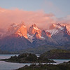 Dawn at the Los Cuernos (the 'Horns'), Paine Massif, Torres del Paine NP, Chile