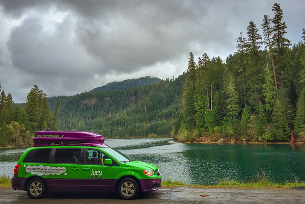 Our Jucy Campervan on Oregon's Rogue River