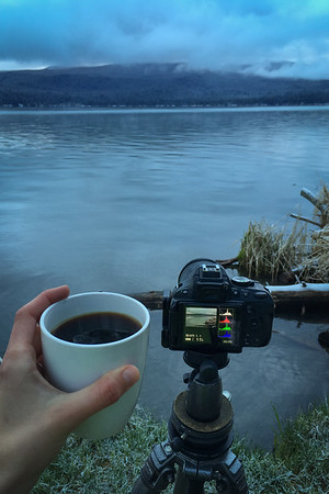 Hot coffee on a cold morning