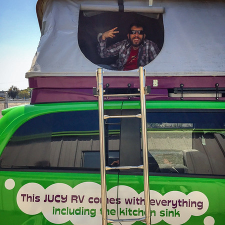 The Pop Up top on our Jucy campervan rental