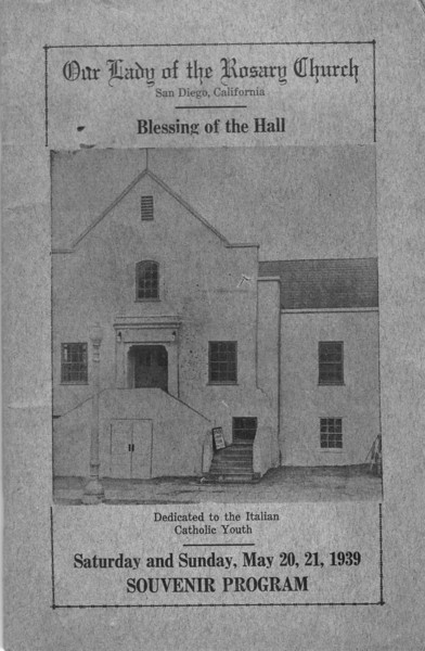 1939 Parish Hall Program