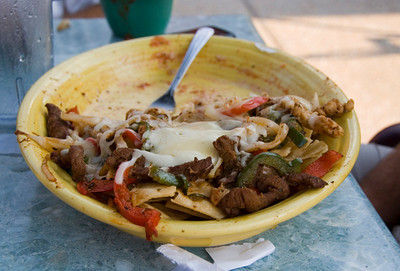 Fajita nachos at Salsa's in Gloucester Virginia