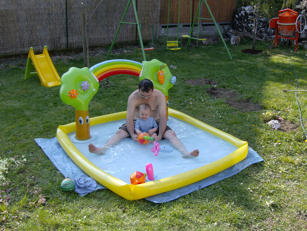 The weather was so lovely we broke the paddling pool out