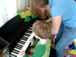 Jack, Mommy & Danny doing a bit of improvisational jazz piano :-)