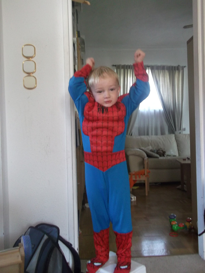 Spiderman is big & strong