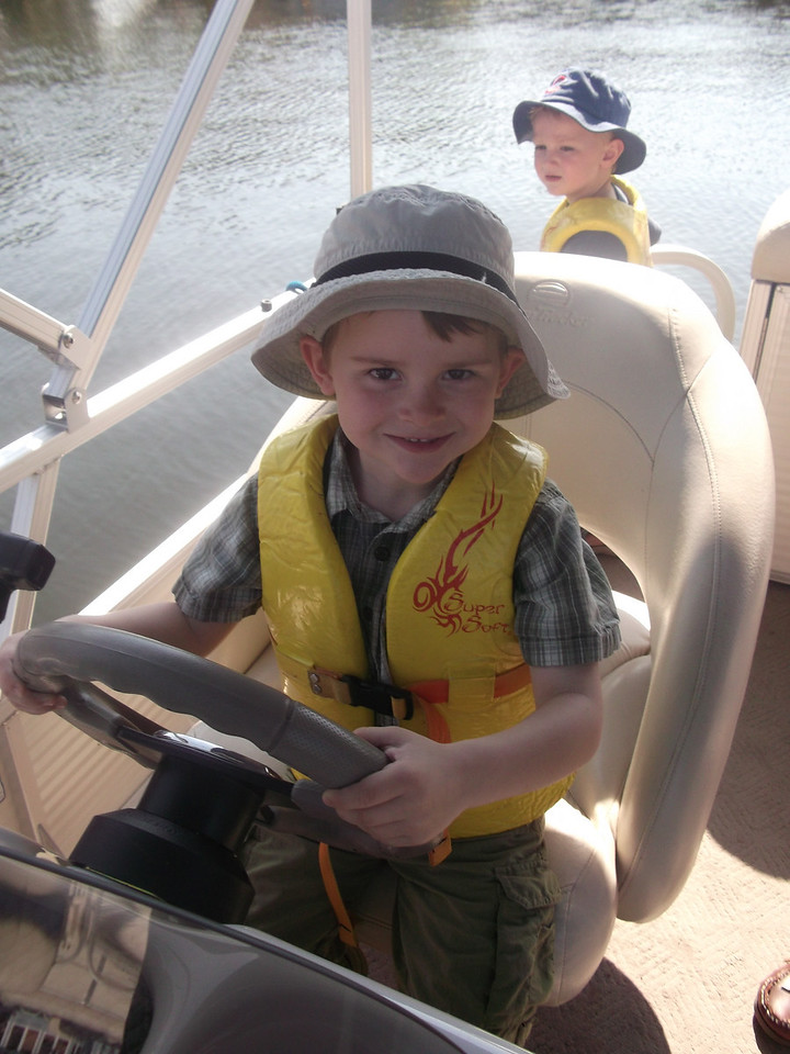 We got berated for letting the kids drive the boat - we didn't care