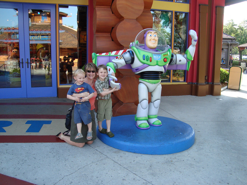 We stayed for 3 nights in Orlando, next to Downtown Disney - didn't hit any of the parks - giant Buzz Lightyear et al was all our little guys needed