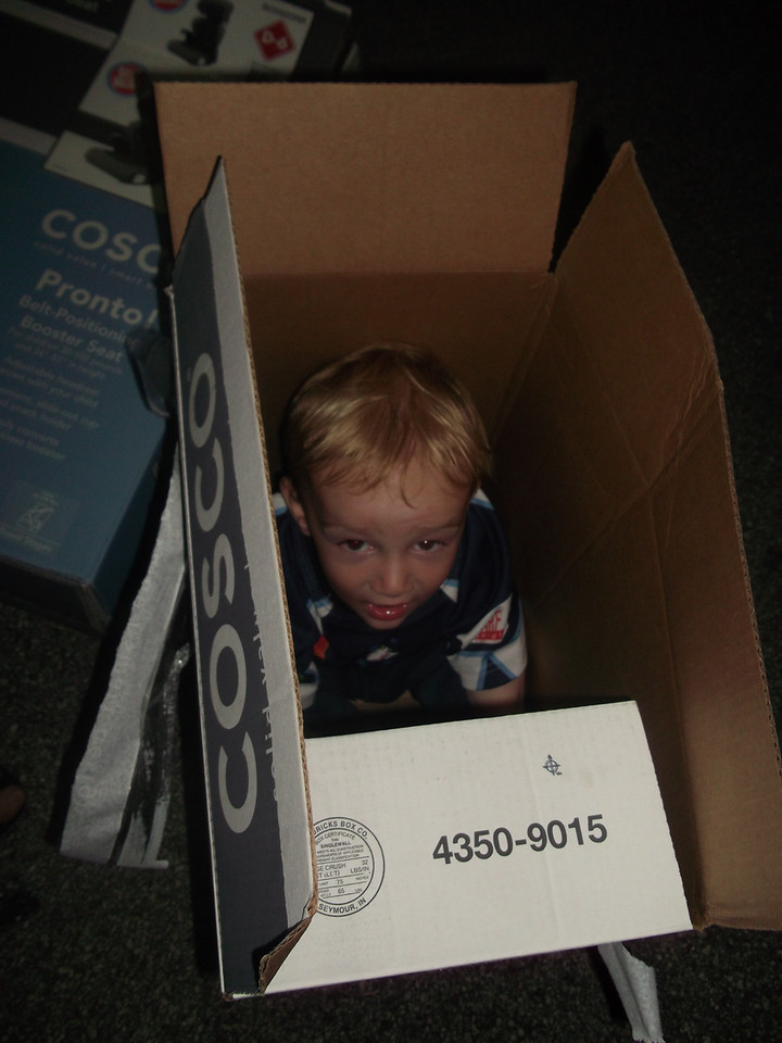 Avis had no kiddie seats to hire, so we hit Wallmart & bought some - the boys were pretty pleased with the boxes