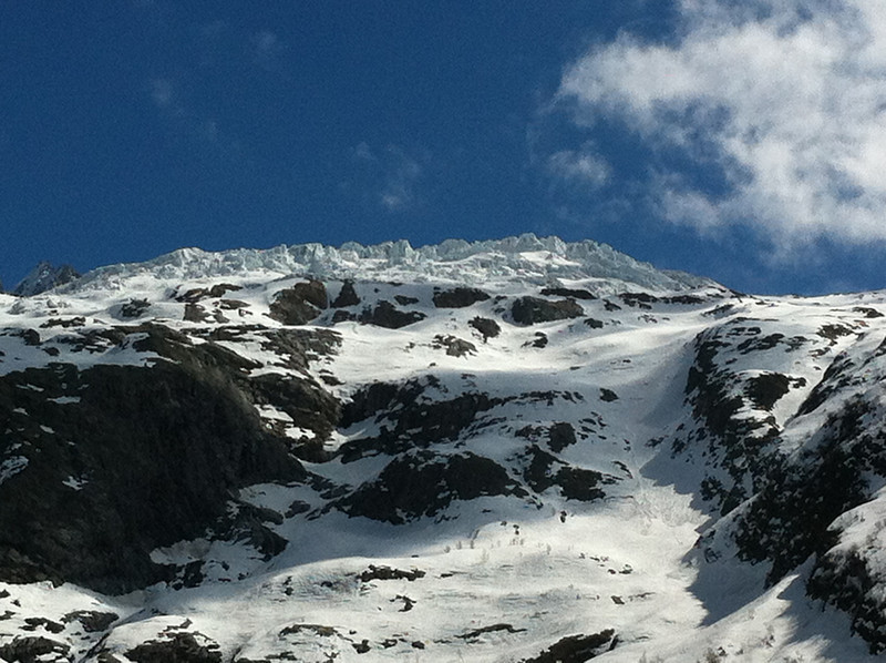 Glacier de Tour overlooks the ski area