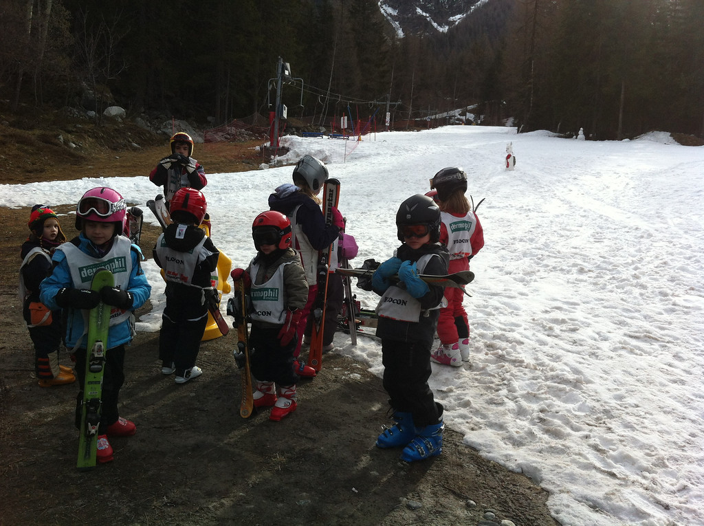 The boys had 2 days of ski school: Danny got moved up to the big boys class with Jack - he was thrilled :-)