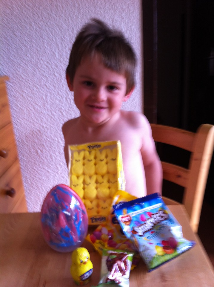 Jack and his Easter loot