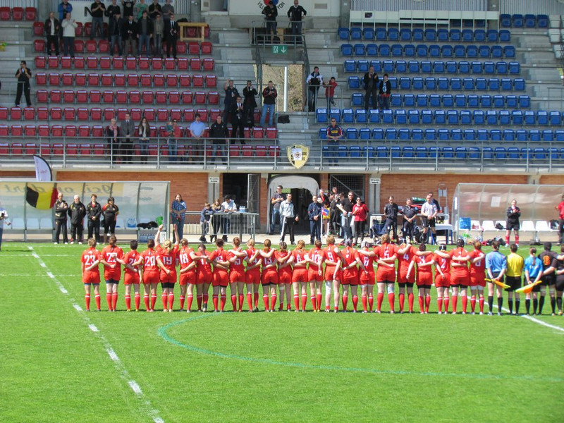 More rugby! A small historic moment: the first ever official home international game for Swiss Lades. Sadly, we lost 25-5 v. Belgium.