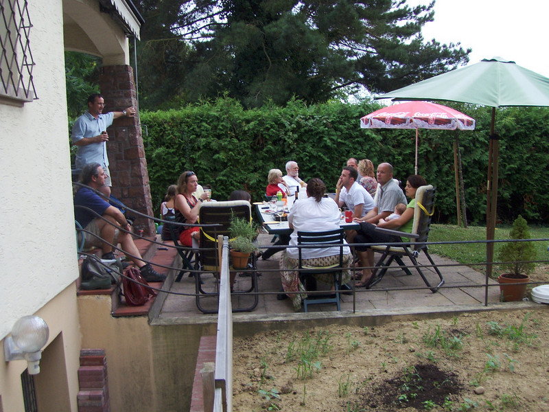 The Zajko family who went back to Canada 5 years ago were visiting, so we had a BBQ for them and some other old friends - it was great to see them!