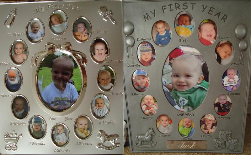 Danny & Jack's 1st year photo frames