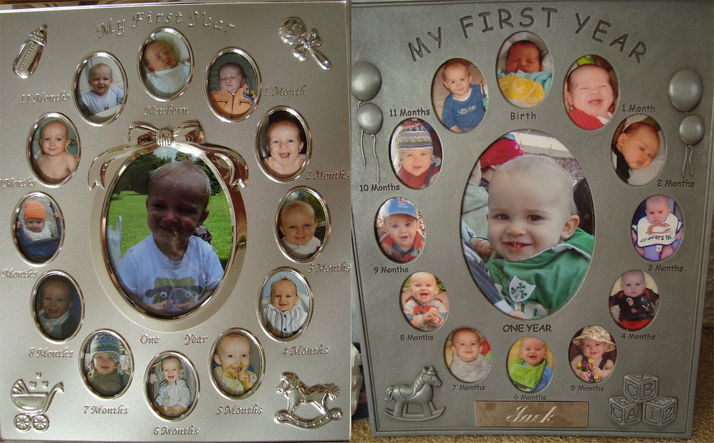 Danny & Jack's 1st year photo frames