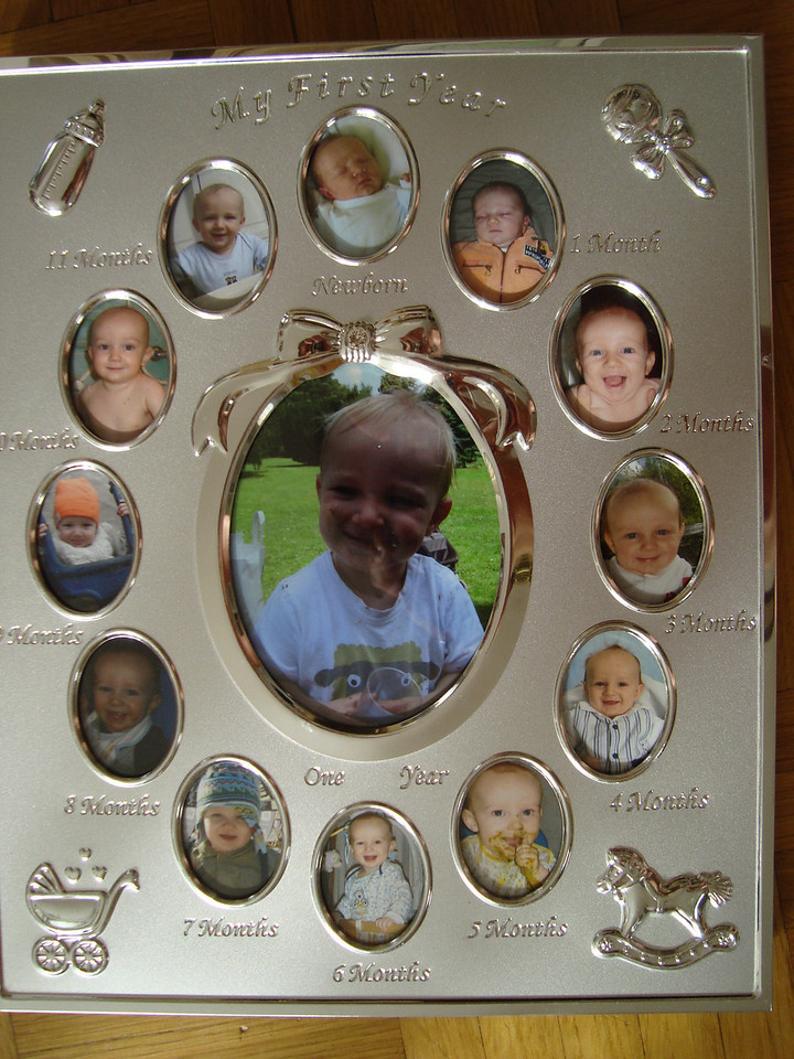 Danny's 1st year photo frame