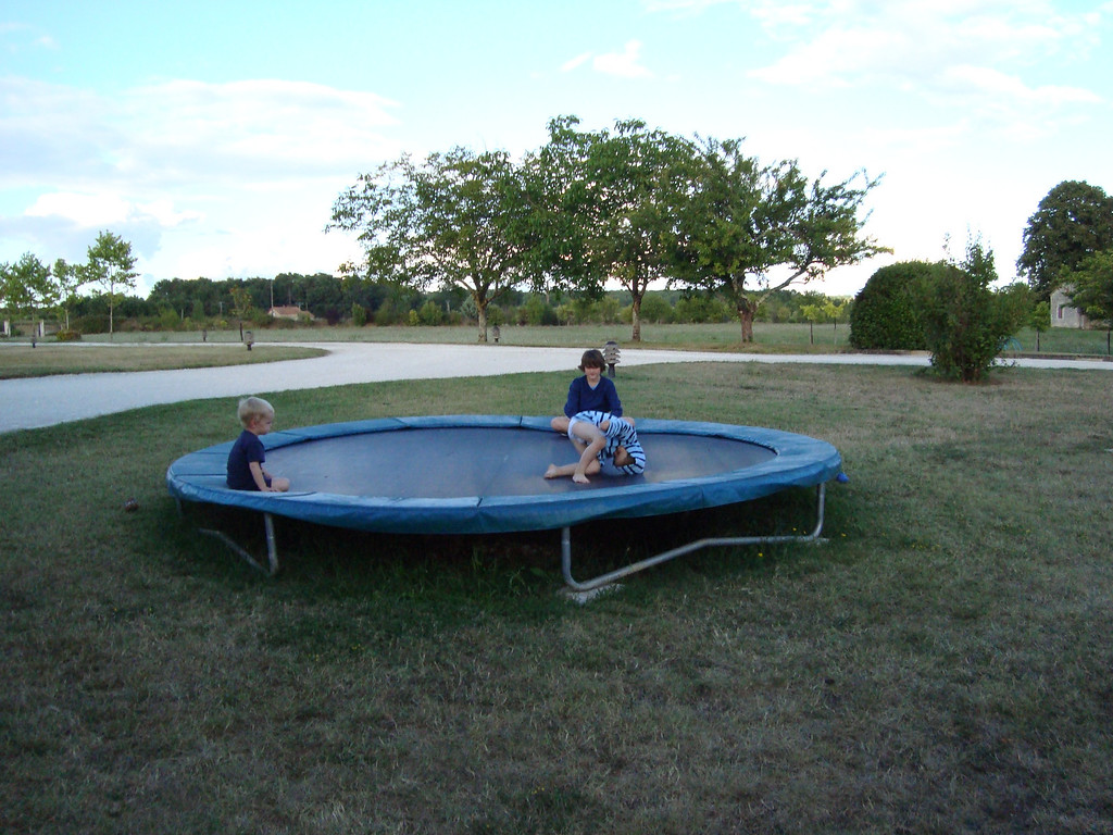 The trampoline was a big hit as always