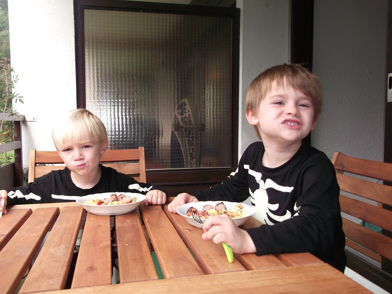 Omlette time for little skeletons