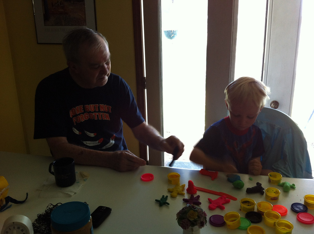 Playng Play-Doh with PawPaw