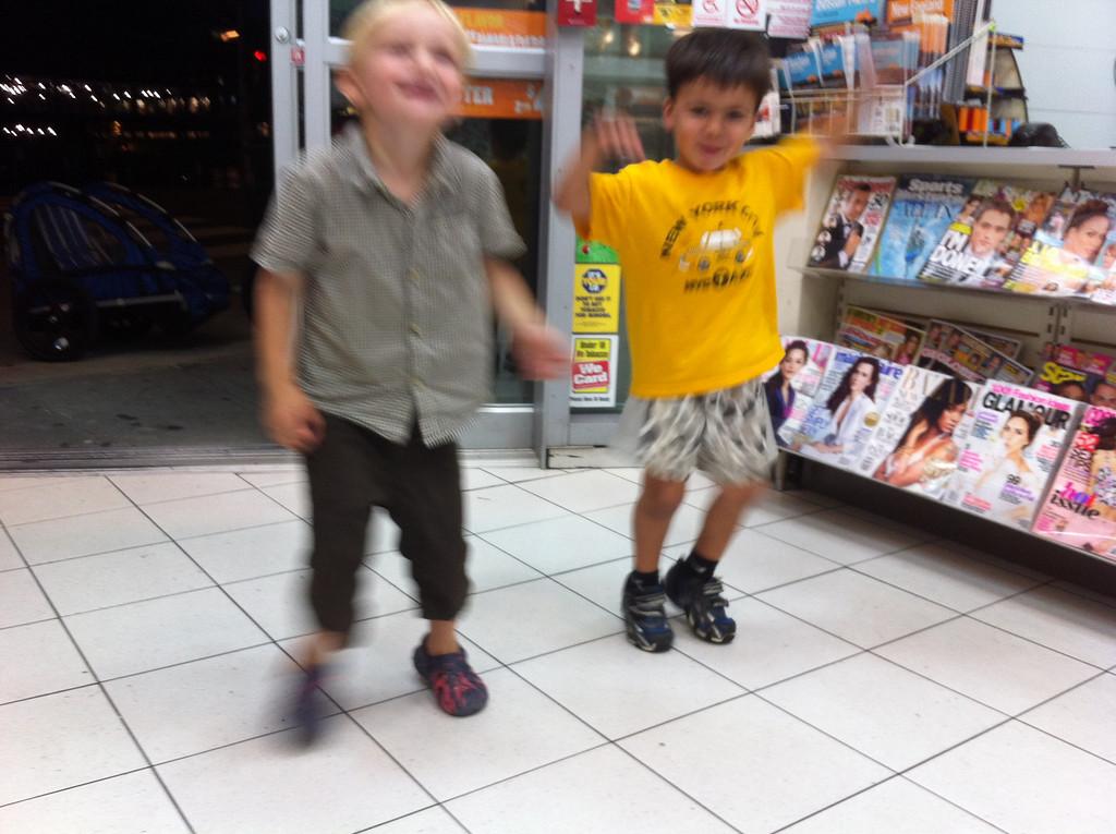 Danny & Lucas having late-night fun in the 7-11