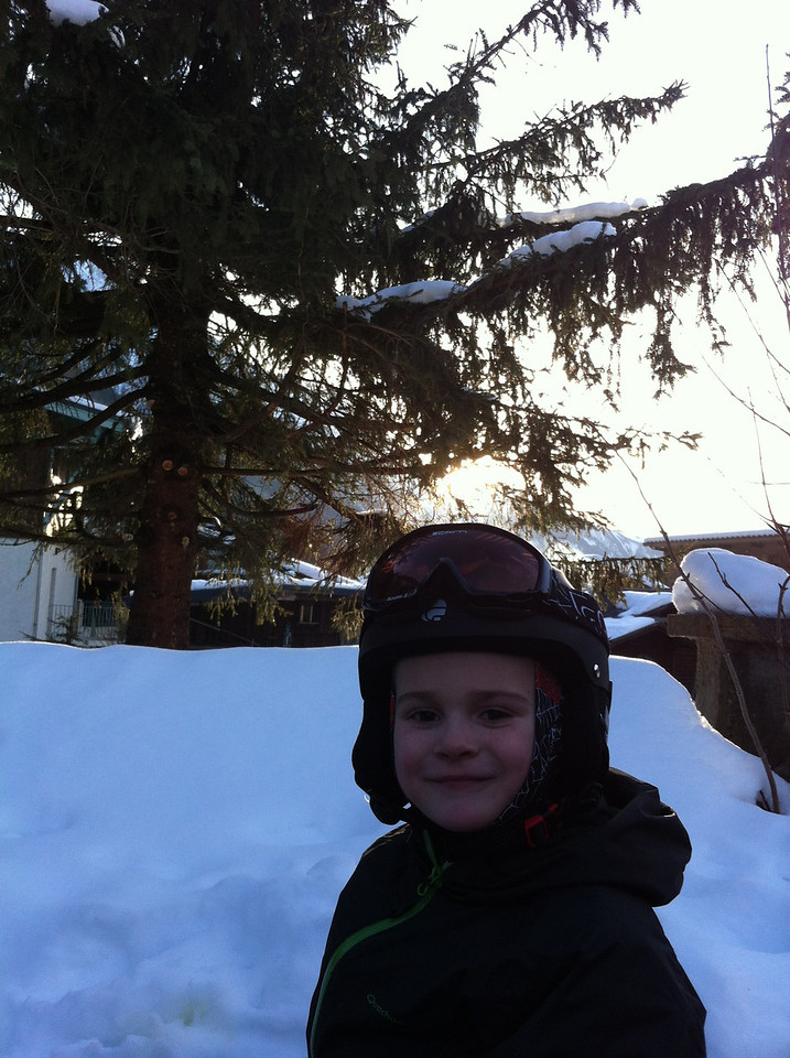 End of a fab first day on the slopes!