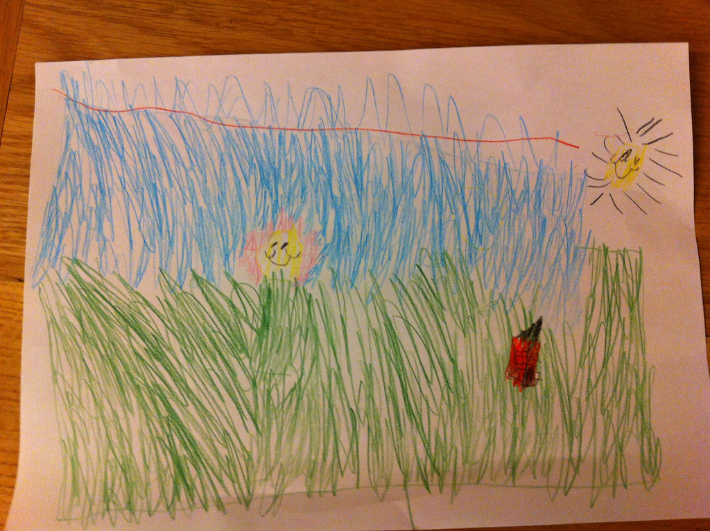Beautiful picture that Jack drew for me
