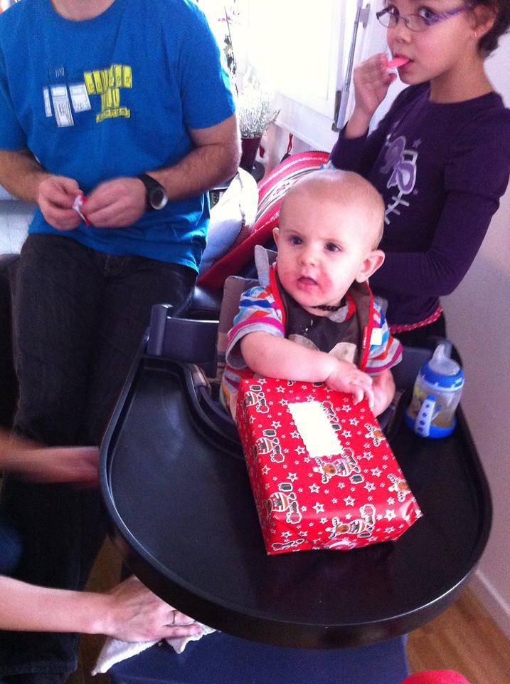 009 Aiden Opening His Present