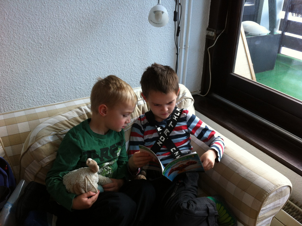 Jack reading Ironman to Danny