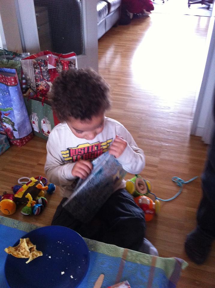 006 Cullen Opening His Present