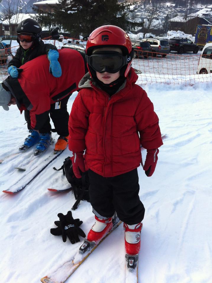 Danny's ready to ski ...