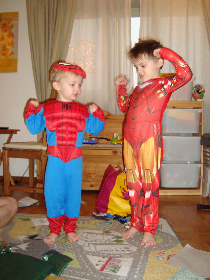 Spiderman & Ironman are big & strong