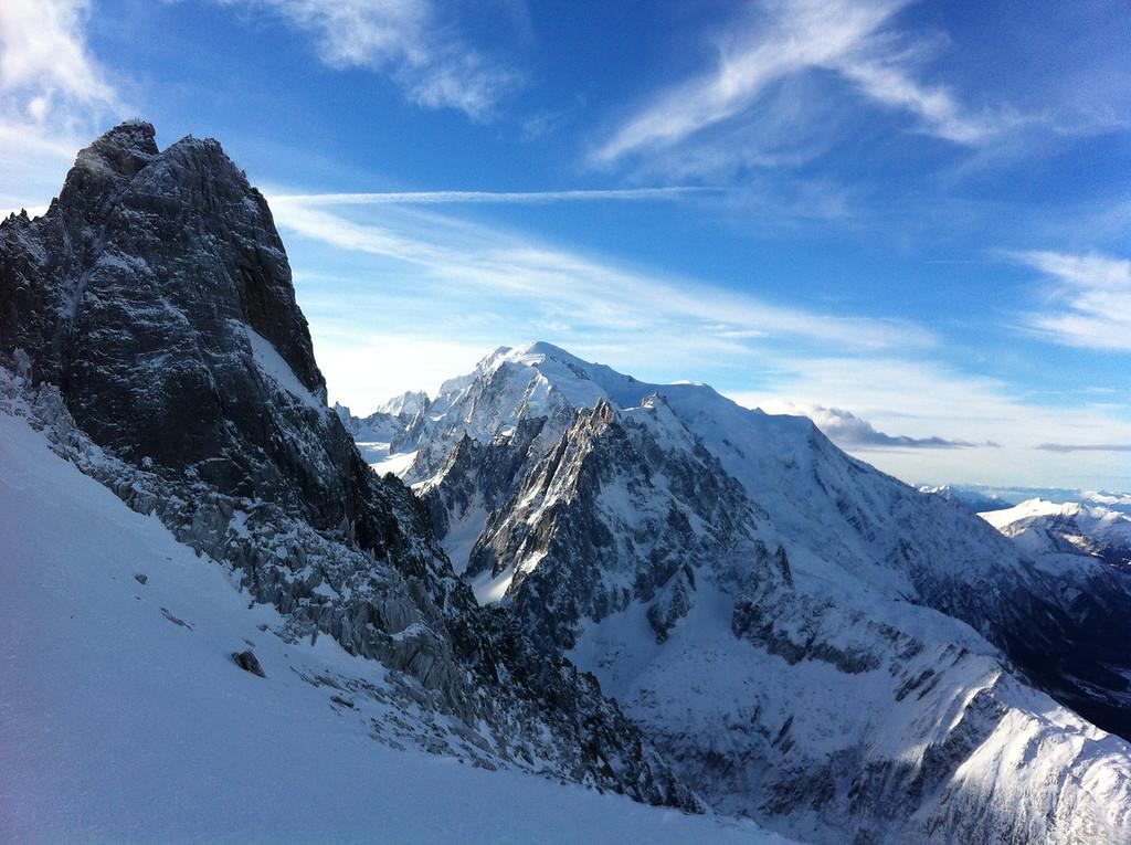 038 Les Drus & Mont Blanc