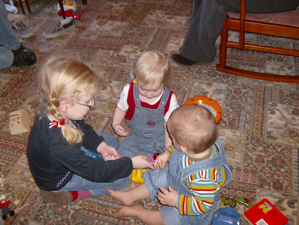 Three cousins playing together.