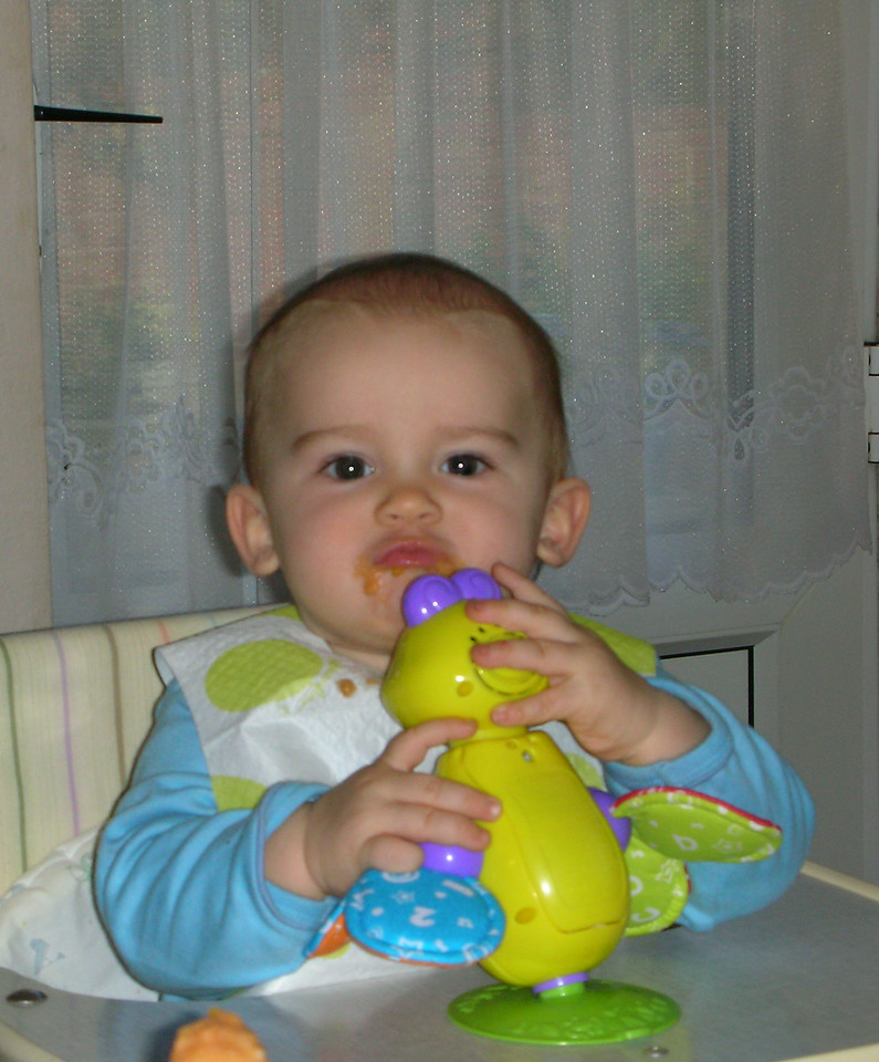 """Jack stealing Auntie Kate's patented """"piggie face"""". He reminds me of my brother Andrew so much in this picture."""