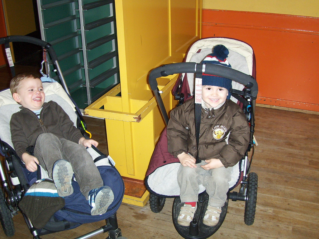 Findlay & Jack decided they wanted to have a rest in the babies pushchairs