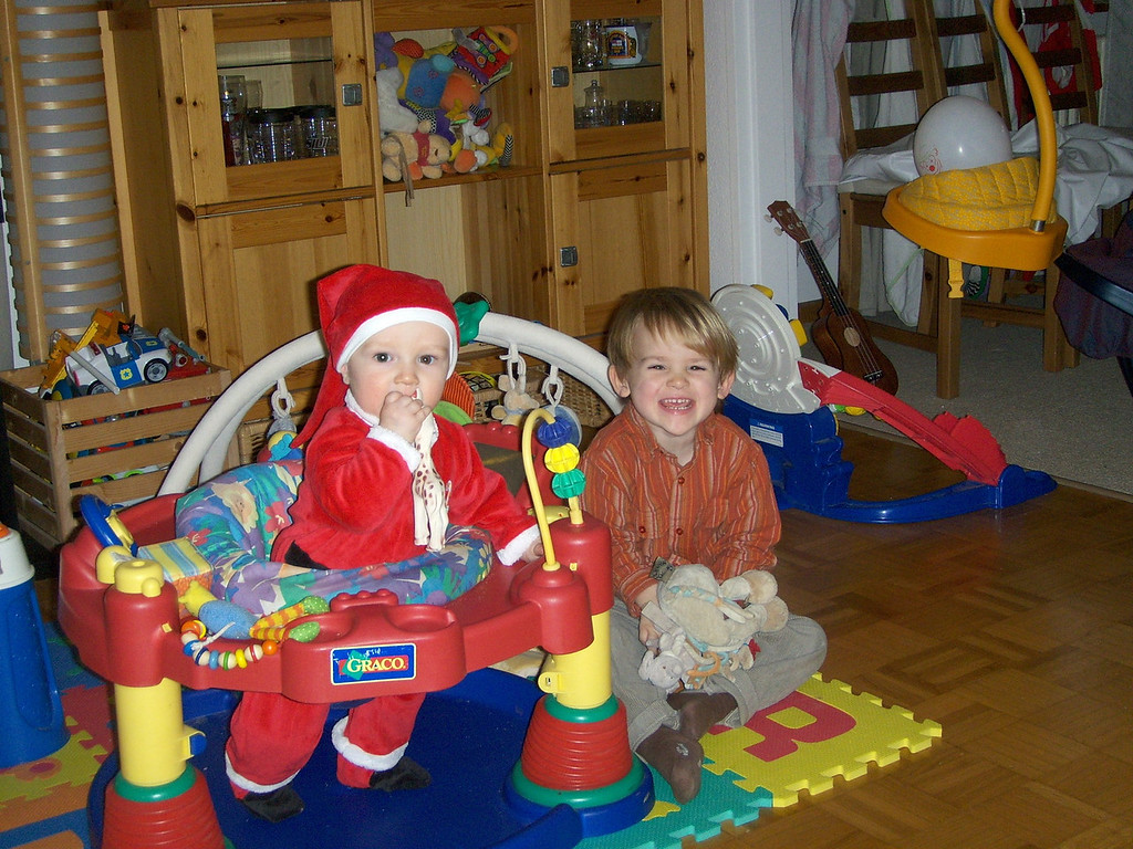 Danny & Jack ready to go to the rugby club Xmas party