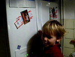 Jack chatting about the Frickes. We have picture magnets of Sammie in her volleyball kit on the fridge & he is always talking about Sammie playing 'bolleyball'