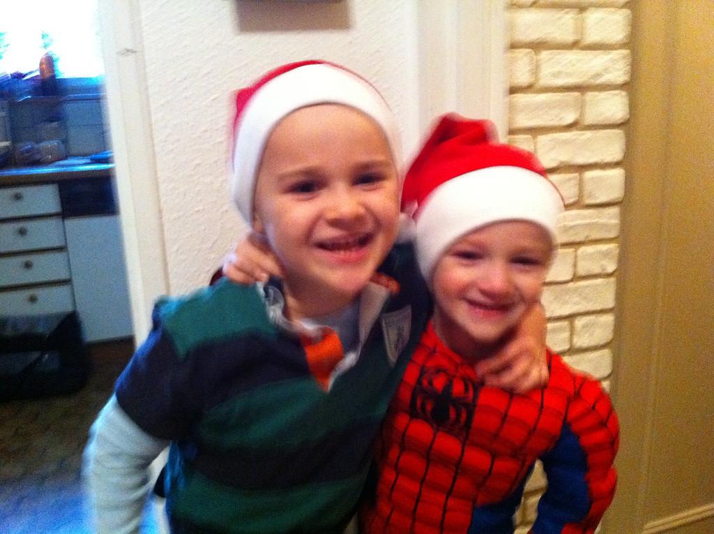Happy, Blurry Santas