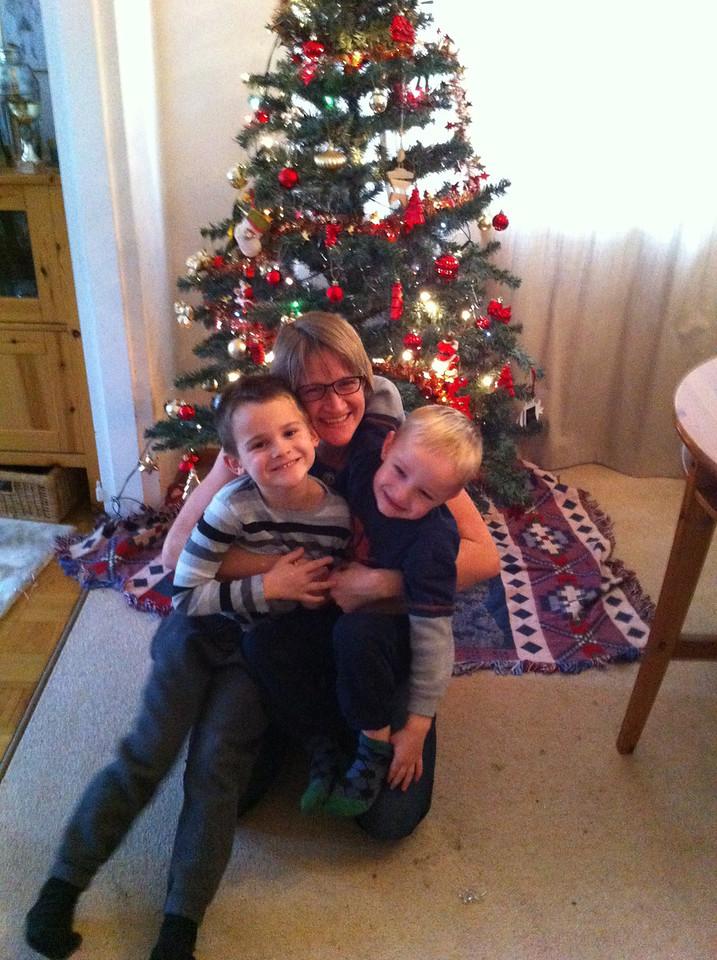 Yay! Home, boys, Xmas = life is good