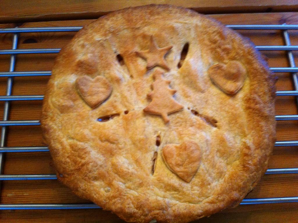 Homemade apple pie ...