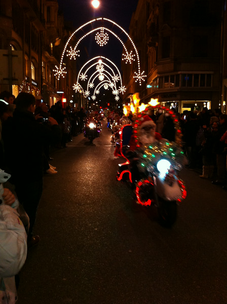 We went, as always, to see the Santas on Harleys