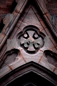 Beautiful stone work and detail on the exterior of an old church in Charleston, SC.