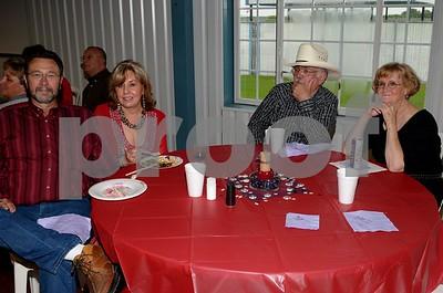 Bill & I & Joe & Barbara Poss enjoying the great food.