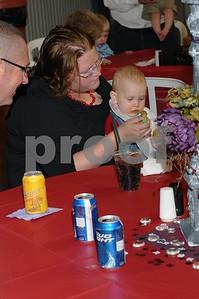 Aunt Helen Whitehead feeding Hunter.