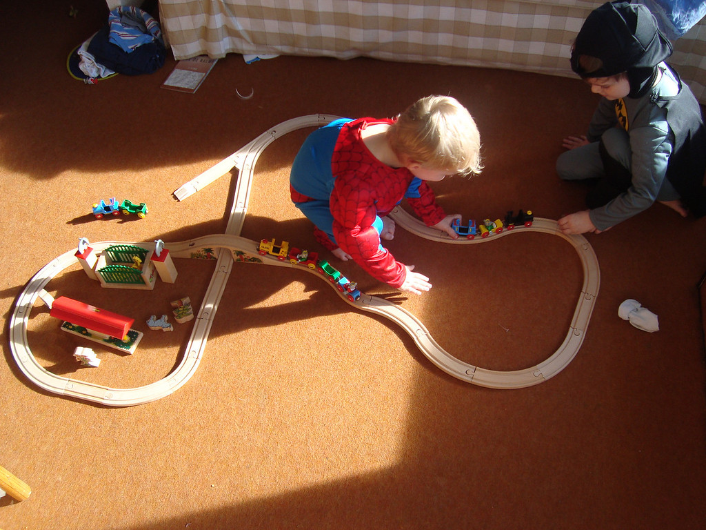 Train-set fun for Spidey & Batman