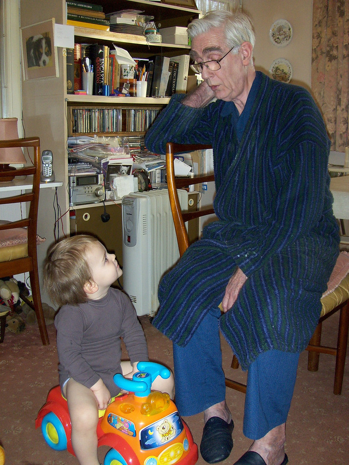 """Jack loved to get Grandpa to sing """"Trois Poules"""" to the """"Twinkle Star"""" tune on this car. He would just push it up to him and say """"Again Grandma"""" (he still can't differentiate between the words Grandma & Grandpa - they are both Grandma)."""